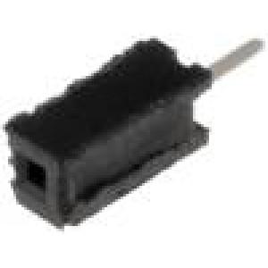 Zásuvka kolíkové zásuvka PIN:1 přímý 1,27mm THT 1x1 1A 30mΩ