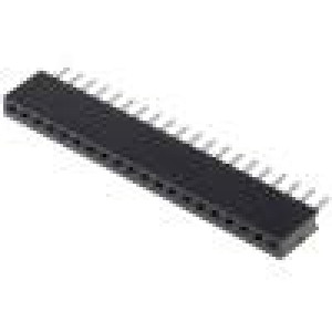 Zásuvka kolíkové zásuvka PIN:20 přímý 1,27mm THT 1x20 1A
