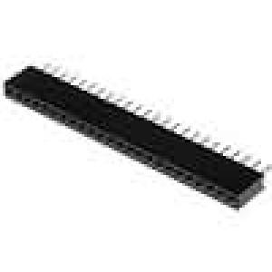 Zásuvka kolíkové zásuvka PIN:24 přímý 1,27mm THT 1x24 1A
