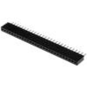 Zásuvka kolíkové zásuvka PIN:28 přímý 1,27mm THT 1x28 1A