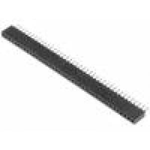 Zásuvka kolíkové zásuvka PIN:40 přímý 1,27mm THT 1x40 1A