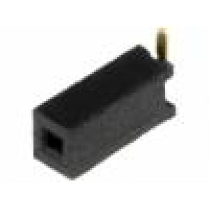 Zásuvka kolíkové zásuvka PIN:1 přímý 1,27mm SMT 1x1 1A 30mΩ