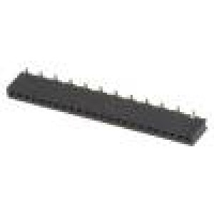 Zásuvka kolíkové zásuvka PIN:24 přímý 1,27mm SMT 1x24 1A