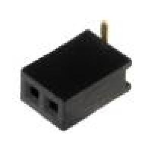 Zásuvka kolíkové zásuvka PIN:2 přímý 1,27mm SMT 1x2 1A 30mΩ