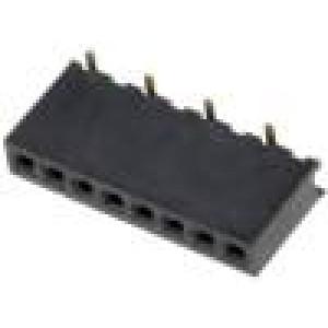 Zásuvka kolíkové zásuvka 8 PIN přímý 1,27mm SMT 1x8 1A 30mΩ