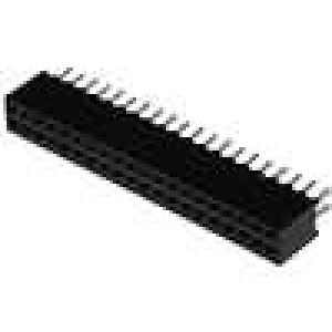 Zásuvka kolíkové zásuvka PIN:40 přímý 1,27mm THT 2x20 1A
