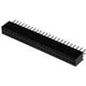 Zásuvka kolíkové zásuvka PIN:48 přímý 1,27mm THT 2x24 1A