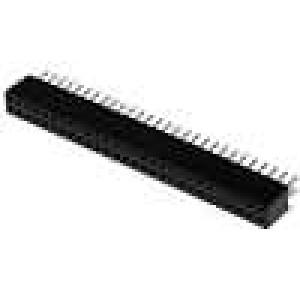 Zásuvka kolíkové zásuvka PIN:56 přímý 1,27mm THT 2x28 1A
