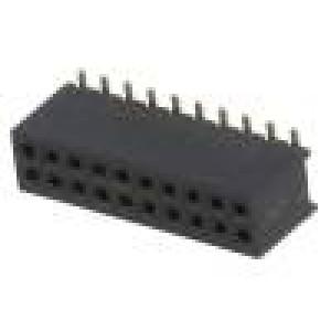 Zásuvka kolíkové zásuvka PIN:20 přímý 1,27mm SMT 2x10 1A