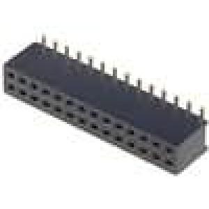Zásuvka kolíkové zásuvka PIN:28 přímý 1,27mm SMT 2x14 1A