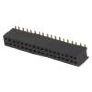 Zásuvka kolíkové zásuvka PIN:36 přímý 1,27mm SMT 2x18 1A