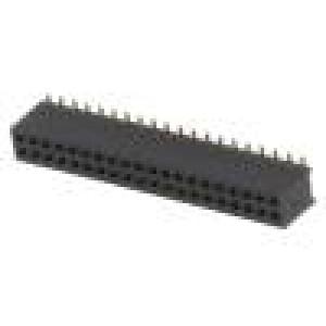 Zásuvka kolíkové zásuvka PIN:40 přímý 1,27mm SMT 2x20 1A