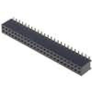 Zásuvka kolíkové zásuvka PIN:48 přímý 1,27mm SMT 2x24 1A