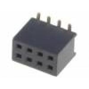 Zásuvka kolíkové zásuvka 8 PIN přímý 1,27mm SMT 2x4 1A 30mΩ