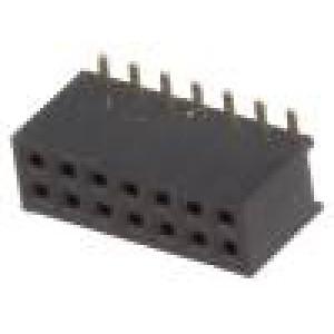Zásuvka kolíkové zásuvka 14PIN přímý 1,27mm SMT 2x7 1A 30mΩ