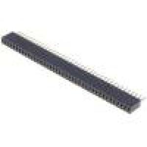 Zásuvka kolíkové zásuvka PIN:40 přímý 1,27mm THT 1x40