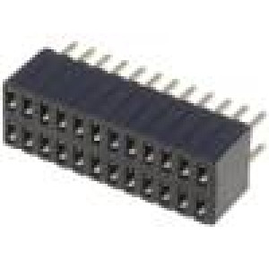 Zásuvka kolíkové zásuvka PIN:24 přímý 1,27mm THT 2x12