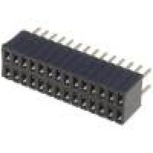 Zásuvka kolíkové zásuvka PIN:28 přímý 1,27mm THT 2x14