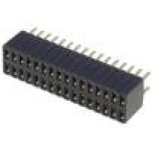 Zásuvka kolíkové zásuvka PIN:32 přímý 1,27mm THT 2x16