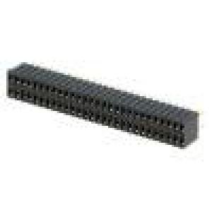 Zásuvka kolíkové zásuvka PIN:56 přímý 1,27mm THT 2x28