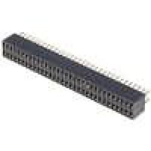 Zásuvka kolíkové zásuvka PIN:64 přímý 1,27mm THT 2x32