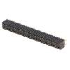 Zásuvka kolíkové zásuvka PIN:72 přímý 1,27mm THT 2x36
