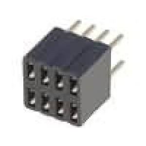 Zásuvka kolíkové zásuvka 8 PIN přímý 1,27mm THT 2x4