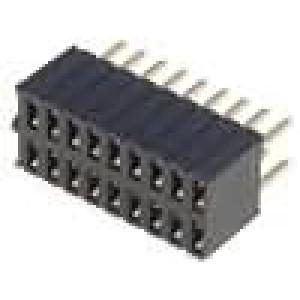Zásuvka kolíkové zásuvka 18 PIN přímý 1,27mm THT 2x9