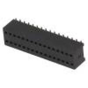 Zásuvka kolíkové zásuvka PIN:32 přímý 1,27mm SMT 2x16
