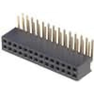 Zásuvka kolíkové zásuvka PIN:28 úhlové 90° 1,27mm THT 2x14