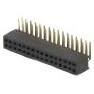 Zásuvka kolíkové zásuvka PIN:32 úhlové 90° 1,27mm THT 2x16