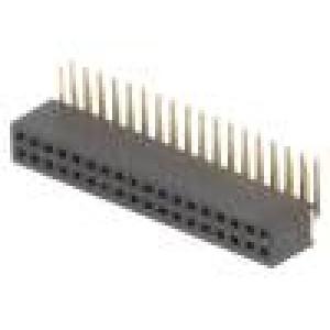 Zásuvka kolíkové zásuvka PIN:36 úhlové 90° 1,27mm THT 2x18