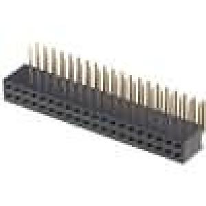 Zásuvka kolíkové zásuvka PIN:40 úhlové 90° 1,27mm THT 2x20