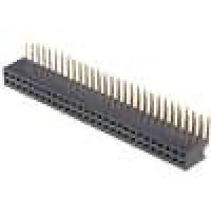 Zásuvka kolíkové zásuvka PIN:56 úhlové 90° 1,27mm THT 2x28