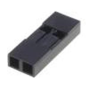 Zástrčka kolíkové MTE zásuvka PIN:2 bez kontaktů 2,54mm 1x2
