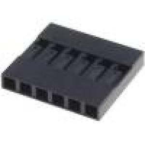 Zástrčka kolíkové MTE zásuvka PIN:6 bez kontaktů 2,54mm 1x6
