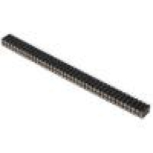 Zásuvka kolíkové zásuvka PIN:80 točené kontakty přímý 2,54mm