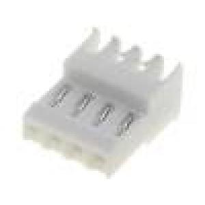 Konektor kabel-pl.spoj zásuvka zástrčka pocínovaný 4PIN