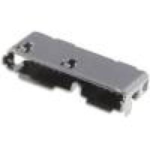 Zásuvka USB AB micro SMT vodorovné V USB 3.0 zlacený