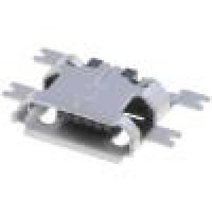 Zásuvka USB B micro SMT vodorovné V USB 2.0 zlacený