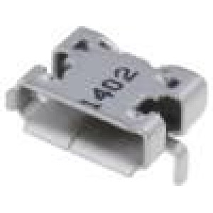 Zásuvka USB AB micro SMT vodorovné V USB 2.0 zlacený