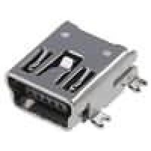 Zásuvka USB B mini SMT vodorovné V USB 2.0 zlacený