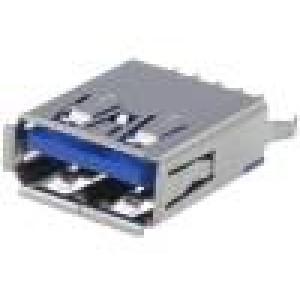 Zásuvka USB A THT přímý V USB 3.0 zlacený