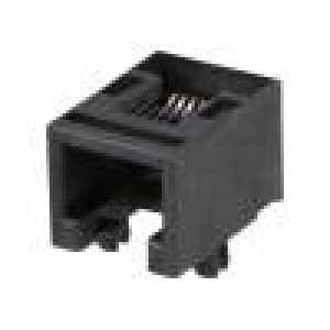 Konektor RJ12 zásuvka 6 PINKat:3 nízkoprofilové THT