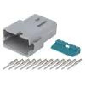Konektor vodič-vodič AT vidlice 16-18AWG 12PIN IP67,IP69K