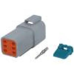 Konektor vodič-vodič AT vidlice 16-18AWG 6 PINIP67,IP69K