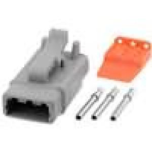 Konektor vodič-vodič ATM zásuvka 16-22AWG 3 PINIP67,IP69K