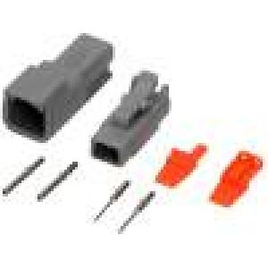 Konektor vodič-vodič ATM vidlice + zásuvka 16-22AWG 2PIN