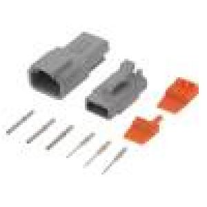 Konektor vodič-vodič ATM vidlice + zásuvka 16-22AWG 3PIN