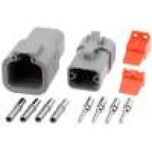 Konektor vodič-vodič ATP vidlice + zásuvka 12-14AWG 4PIN